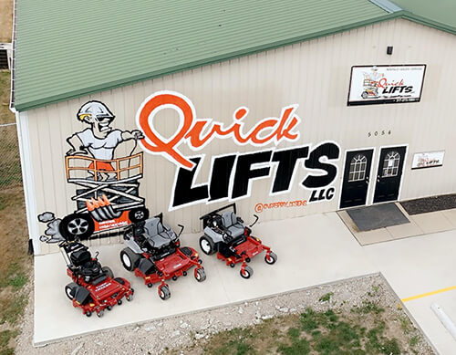 Exterior of QuickLifts Building